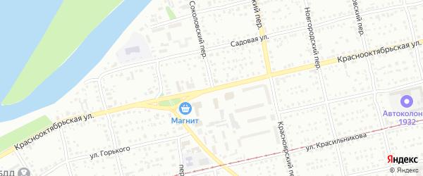 Краснооктябрьская улица на карте Бийска с номерами домов