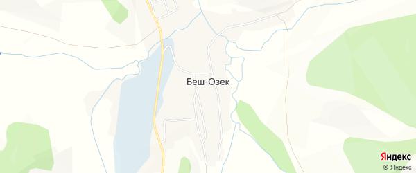 Карта села Беш-Озек в Алтае с улицами и номерами домов