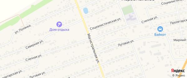 Степная улица на карте садового некоммерческого товарищества Радуги с номерами домов