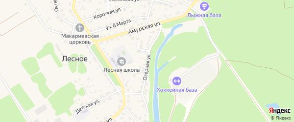 Озерная улица на карте Лесного села с номерами домов