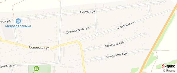 Советская улица на карте Первомайского села с номерами домов
