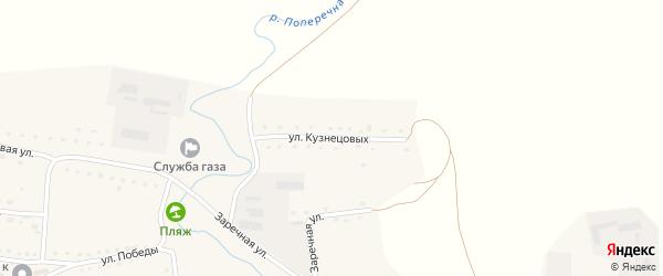 Улица Кузнецовых на карте Никольского села с номерами домов