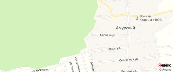 Садовая улица на карте садового некоммерческого товарищества Радуги с номерами домов