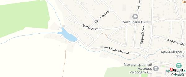 Вишневая улица на карте Алтайского села с номерами домов