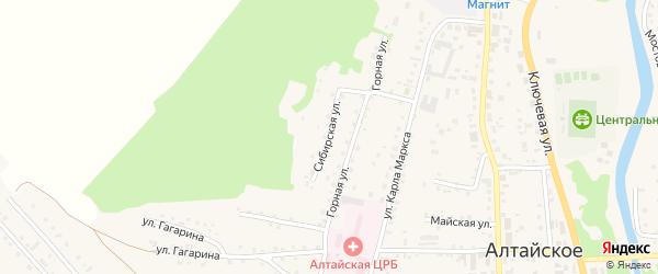 Сибирская улица на карте Алтайского села с номерами домов