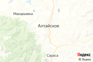 Карта с. Алтайское Алтайский край