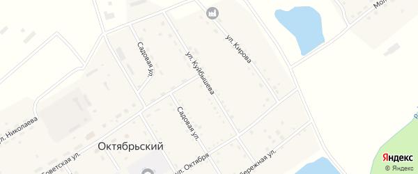 Улица Куйбышева на карте Октябрьского поселка Алтайского края с номерами домов