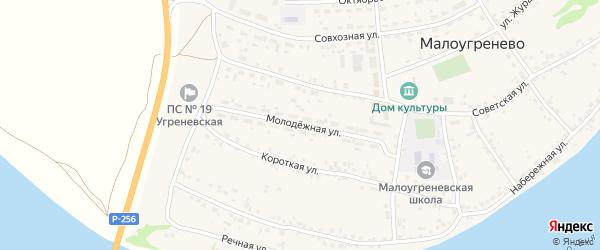 Молодежная улица на карте села Малоугренево с номерами домов