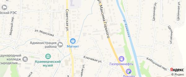 Ключевая улица на карте Алтайского села с номерами домов