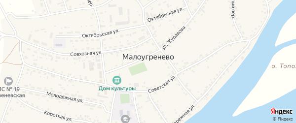 Котельный переулок на карте села Малоугренево Алтайского края с номерами домов