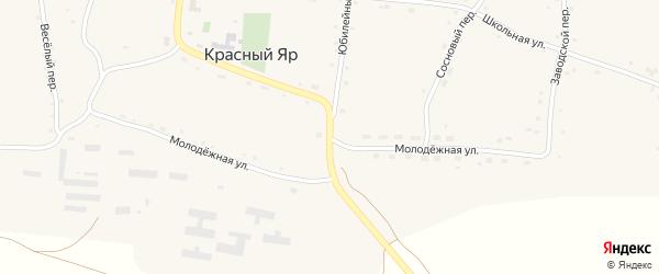 Молодежная улица на карте села Красного Яра с номерами домов
