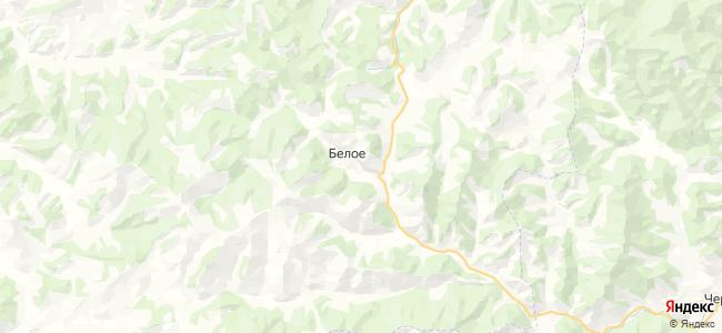 Белое на карте