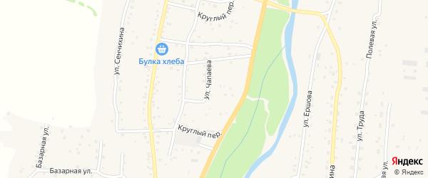 Улица В.И.Чапаева на карте Алтайского села Алтайского края с номерами домов