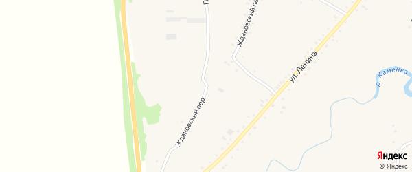 Ждановский переулок на карте села Нижнекаменки с номерами домов