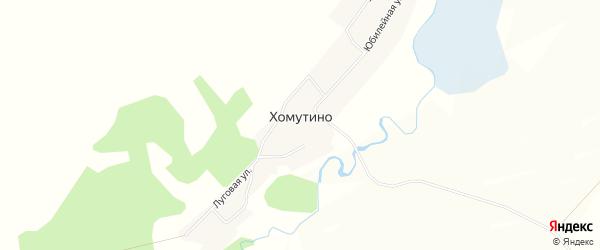 Карта села Хомутино в Алтайском крае с улицами и номерами домов