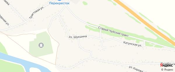 Улица Шукшина на карте Верха-Катунского села с номерами домов