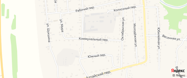 Коммунальный переулок на карте Советского села с номерами домов