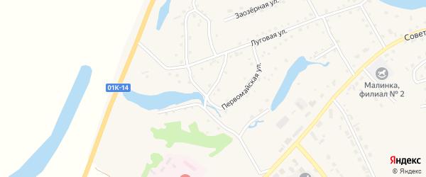 Первомайская улица на карте села Кытманово Алтайского края с номерами домов