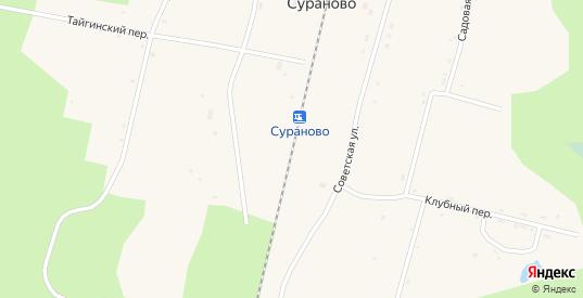 Томский переулок в разъезде Сураново в Тайге с номерами домов на карте. Спутник и схема онлайн