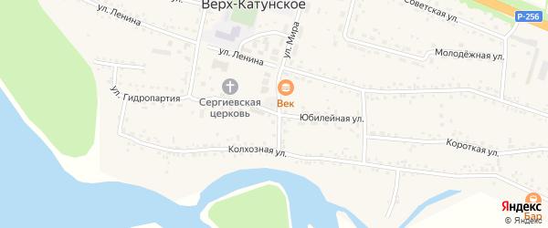 Юбилейная улица на карте Верха-Катунского села с номерами домов