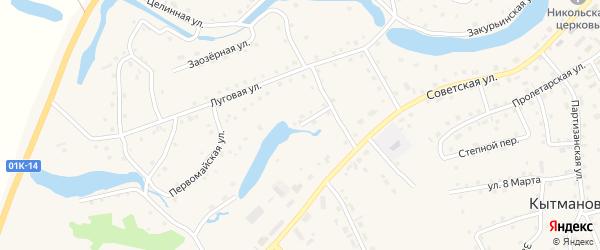 Подгорный переулок на карте села Кытманово Алтайского края с номерами домов