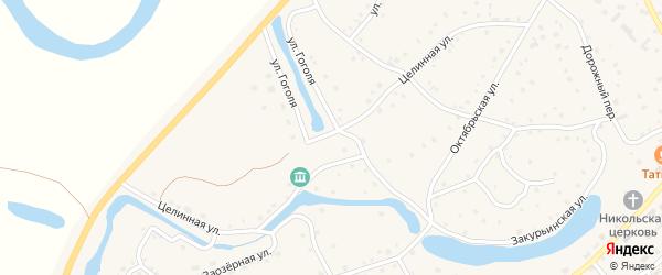 Целинная улица на карте села Кытманово с номерами домов