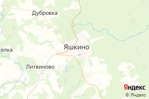Карта пос. Яшкино Кемеровская область