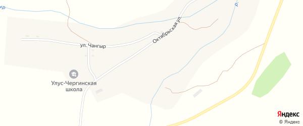 Улица Чангыр на карте села Улусчерги Алтая с номерами домов