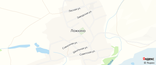 Карта села Ложкино в Алтайском крае с улицами и номерами домов