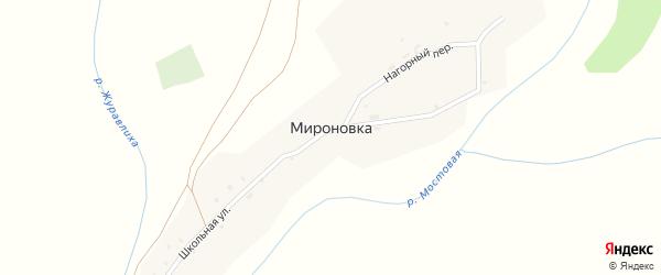 Школьная улица на карте поселка Мироновки с номерами домов