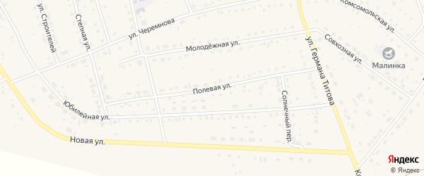 Полевая улица на карте села Кытманово Алтайского края с номерами домов