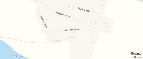 Улица Голубева на карте Верха-Катунского села Алтайского края с номерами домов