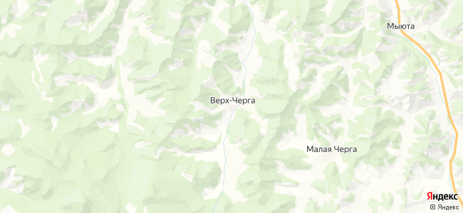 Верх-Черга на карте