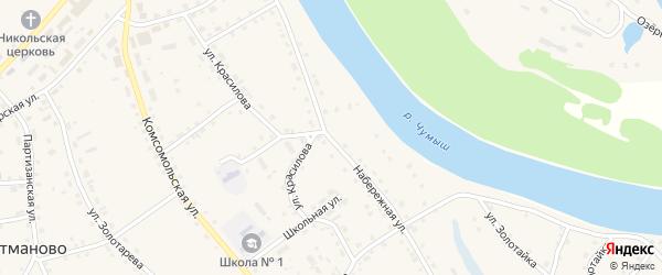 Набережная улица на карте села Кытманово с номерами домов