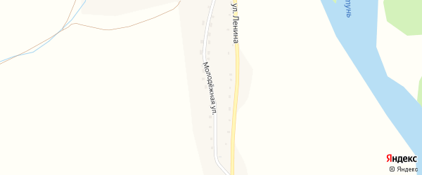 Молодежная улица на карте села Кайтанака Алтая с номерами домов