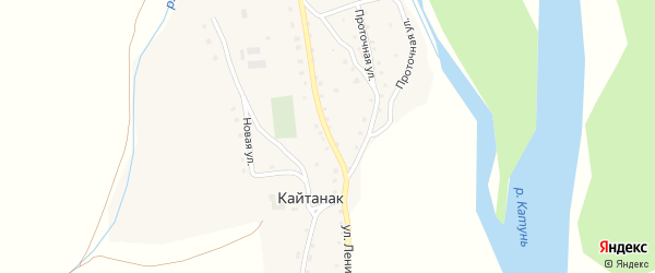 Улица Ленина на карте села Кайтанака Алтая с номерами домов