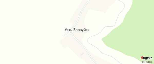 Центральная улица на карте поселка Усть-Бороуйска с номерами домов
