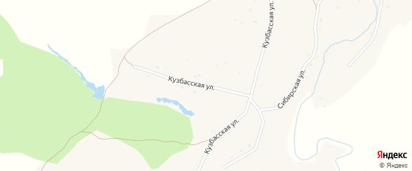 Кузбасская улица на карте села Марушки с номерами домов
