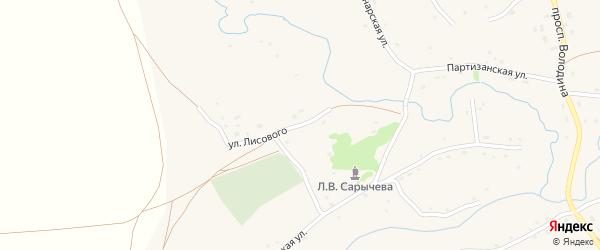 Улица Лисового на карте села Марушки с номерами домов