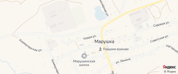Новая улица на карте села Марушки с номерами домов