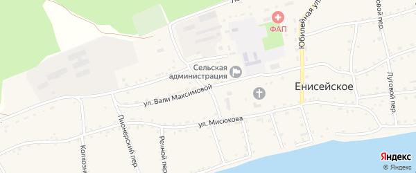 Улица В.Максимовой на карте Енисейского села с номерами домов