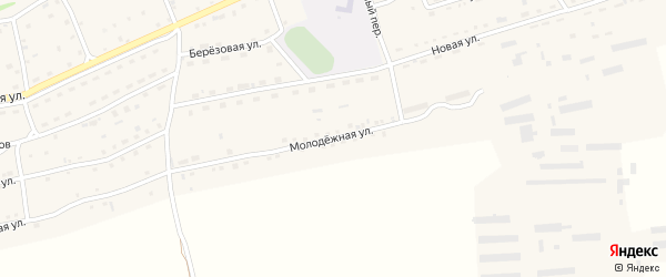 Молодежная улица на карте Малоенисейского села с номерами домов