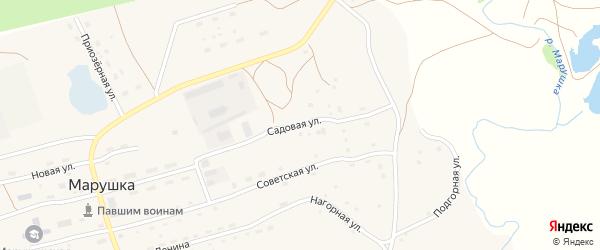 Садовая улица на карте села Марушки с номерами домов