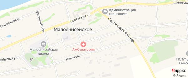 Улица Братьев Мордовиных на карте Малоенисейского села с номерами домов