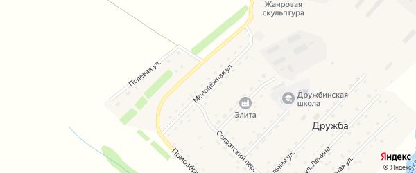 Молодежная улица на карте села Дружбы с номерами домов