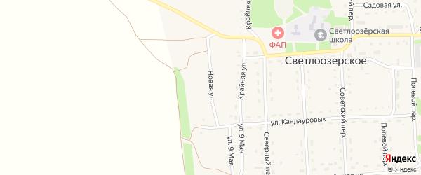 Новая улица на карте Светлоозерского села с номерами домов