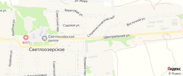 Центральная улица на карте Светлоозерского села с номерами домов
