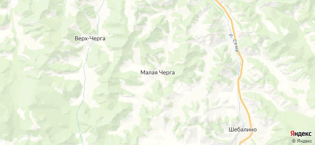 Малая Черга на карте