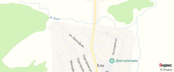 Переулок Туйук на карте села Ело Алтая с номерами домов
