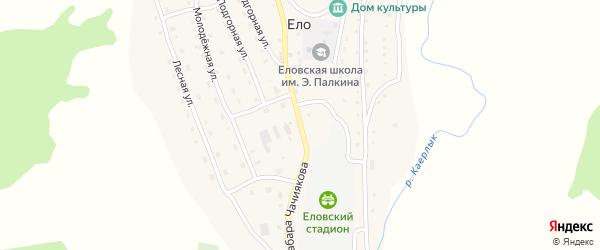 Улица Чачиякова Табара на карте села Ело Алтая с номерами домов